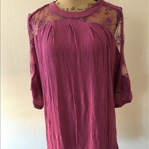 Free People Cold Shoulder Tunic w/ flaws